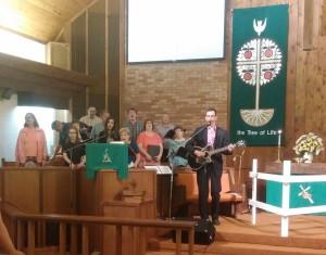Sunday morning music at Cassidy